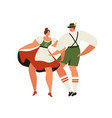 people in traditional german bavarian costume vector image vector image