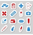 pharmacy stickers vector image vector image