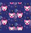 pig pattern design vector image