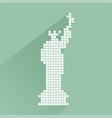 pixel new york symbol vector image