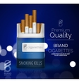 premium cigarettes pack ad template vector image vector image