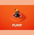pump isometric icon isolated on color background vector image