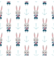 Rabbits and anchors vector image vector image