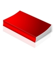 Realistic bright red blank softcover book vector image vector image