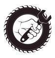 repair of car tire vector image
