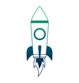rocket launch startup cartoon image vector image