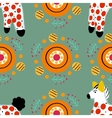 Seamless pattern with horse in Russian Dymkovo vector image vector image