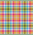 seamless rainbow checkered pattern vector image