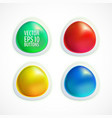 set colorful buttons vector image vector image
