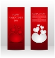 Set of banners Valentines Day Eps 10 vector image vector image