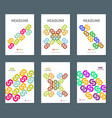 six business brochure design layout template with vector image vector image