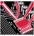 soldering and repair computer chip on the board vector image vector image