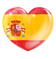 spain flag love heart vector image vector image