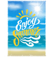 summer colorful vintage poster vector image