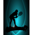 tennis player poster vector image vector image