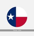 texas round circle flag vector image