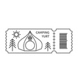 ticket with barcode and yurt vector image vector image