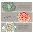 Vintage flowers banners set vector image vector image