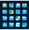 Weather icons set in flat design style vector image vector image