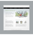 Website design template cityscape vector image vector image