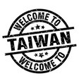 welcome to taiwan black stamp vector image vector image