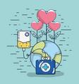 world health cartoon vector image
