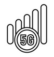 5g mobile icon outline style vector image vector image
