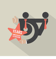 67th Years Anniversary Typography Design vector image vector image