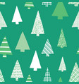 abstract christmas tree seamless pattern vector image vector image