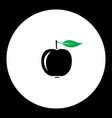 Apple fruit simple black and green icon eps10