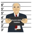 Arrested senior businessman posing for mugshot vector image vector image