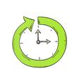 arrow and clock vector image vector image