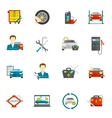 Auto Mechanic Flat Icons Set vector image vector image