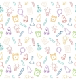 Back to school hand drawn colorful pattern vector image
