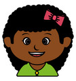 black little girl character vector image