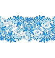 Blue floral ornament in Russian gzhel style vector image vector image