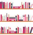 bookshelves with retro vector image