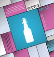 bottle icon sign Modern flat style for your design vector image