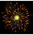 Bright abstract festive fireworks over black vector image vector image