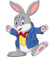 cartoon happy rabbit vector image vector image