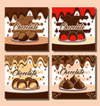 chocolate candy card vector image vector image