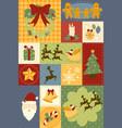 christmas decoration wallpaper vector image vector image