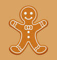 christmas gingerbread man vector image
