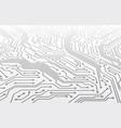 circuit board motherboard scheme in perspective vector image