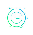 clock basic icon design vector image