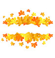 colorful autumn leaves yellow autumn sale frame vector image vector image