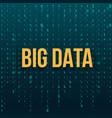 creative of big data analysis vector image