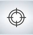 crosshair icon on white background vector image vector image