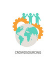 crowdsourcing icon crowdsourcing icon vector image