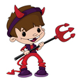 cute devil boy vector image vector image